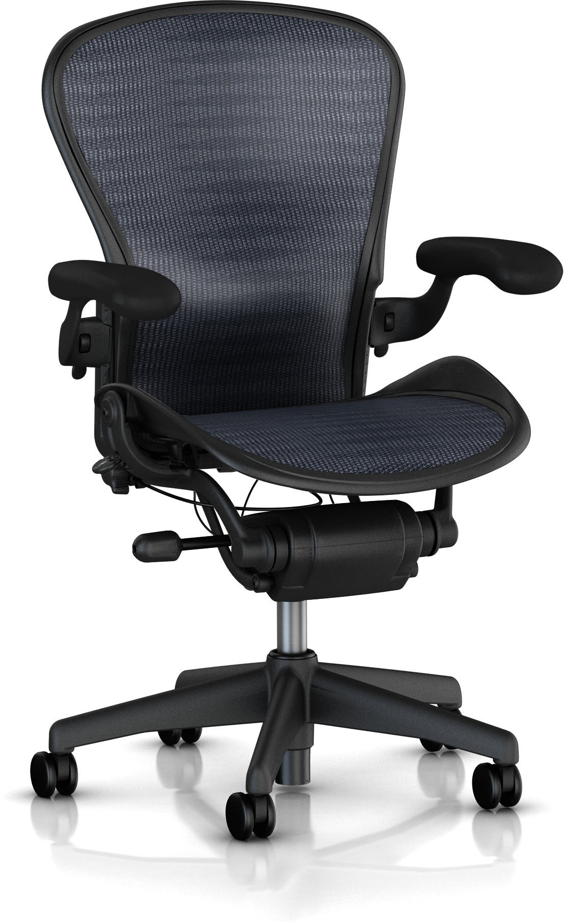 View HermanMiller Aeron - Tuxedo Blue Black Pellicle : Graphite base : Pellicle Backrest and Seat NA Office Chair(Black) Furniture (HermanMiller)