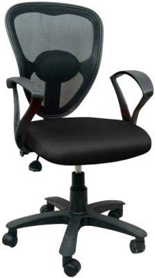 Mavi Fabric Office Chair(Black)