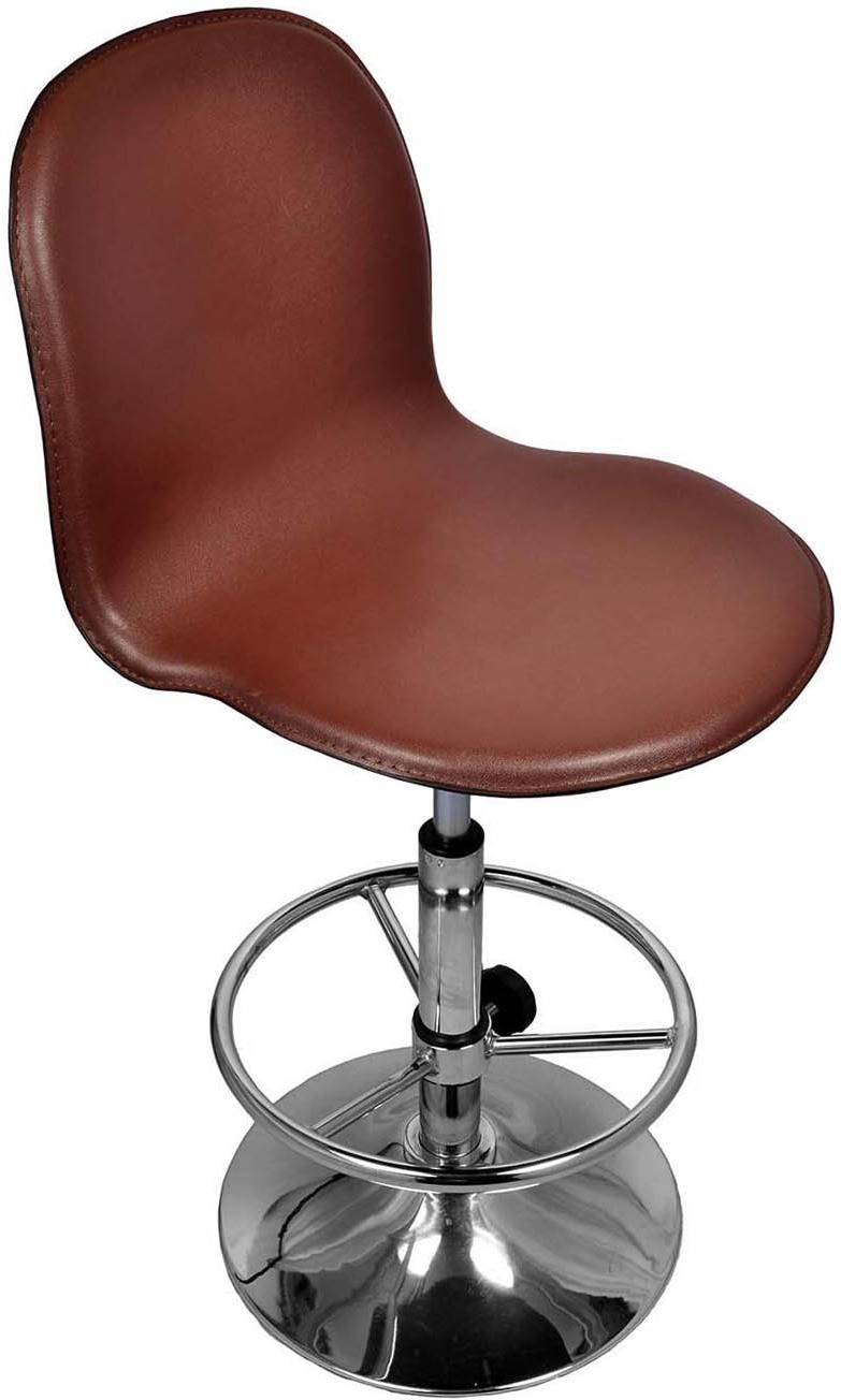 View Darla Interiors Leatherette Visitor Chair(Brown) Furniture (Darla Interiors)