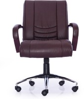 Durian Interio/LB/B Leatherette Office Chair(Brown)