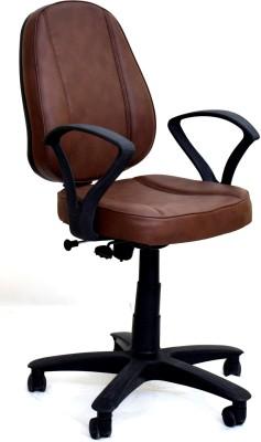 TimberTaste LORA Metal Office Chair(Brown)