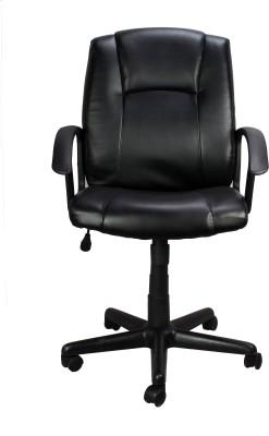 Ringabell Low Back Revolving Chair Plastic Office Chair(Black)