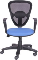 Woodstock India Fabric Office Chair(Black, Blue)