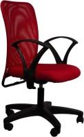 Hetal Enterprises Fabric Office Chair(Red)