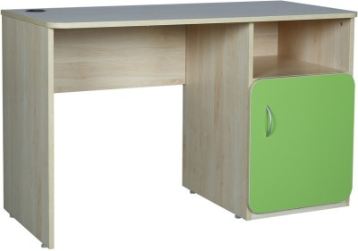 HomeTown Gia Engineered Wood Study Table(Free Standing, Finish Color - Golden and Green)