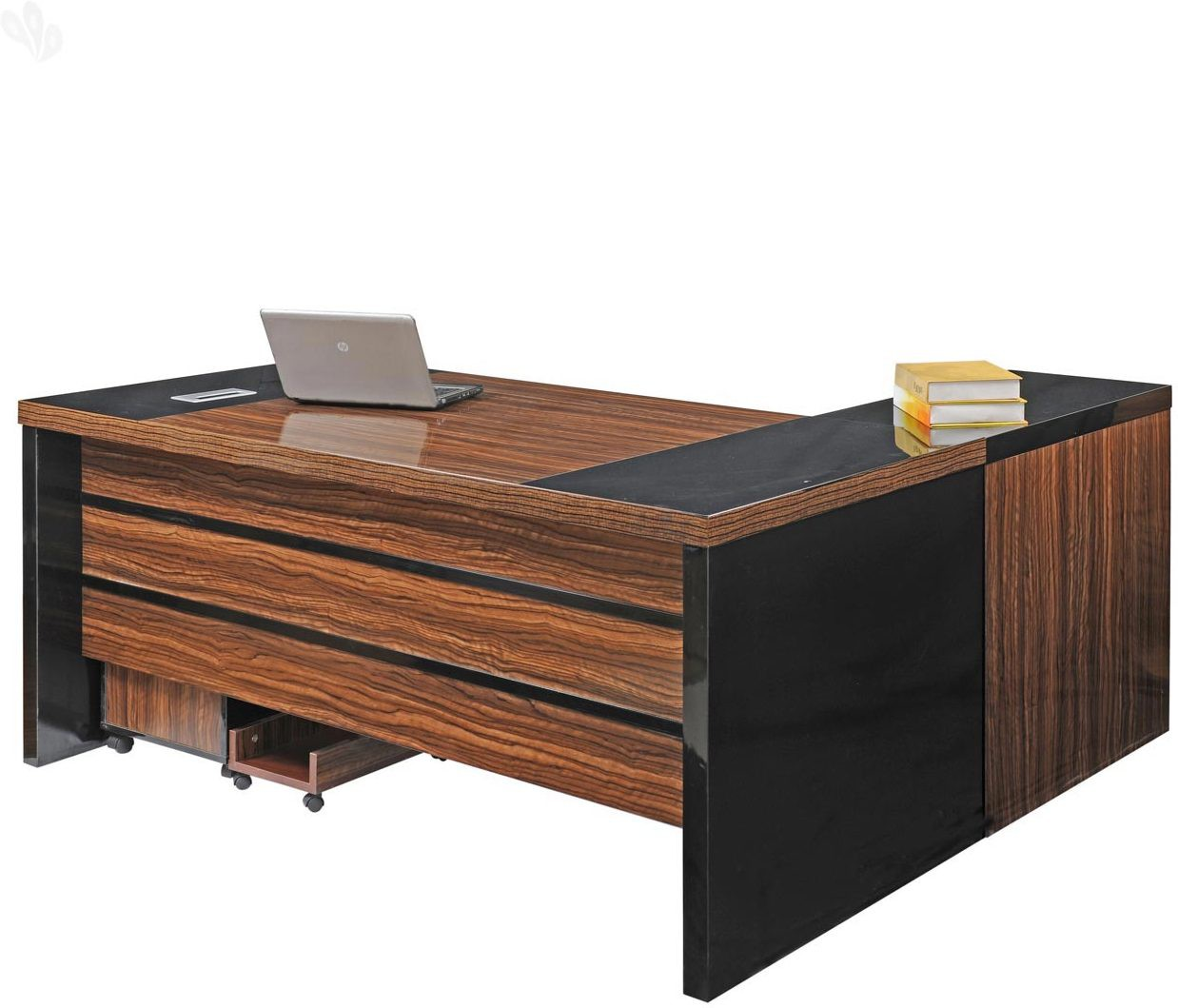 View Royal Oak Holly Engineered Wood Office Table(Free Standing, Finish Color - Honey Brown) Furniture (Royal Oak)