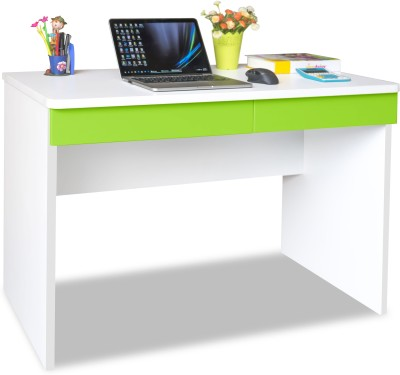 Alex Daisy Universal Engineered Wood Study Table(Free Standing, Finish Color - Green & White)