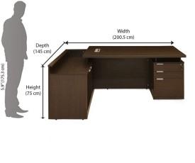 Nilkamal Elegant Engineered Wood Office Table(Free Standing, Finish Color - Walnut)