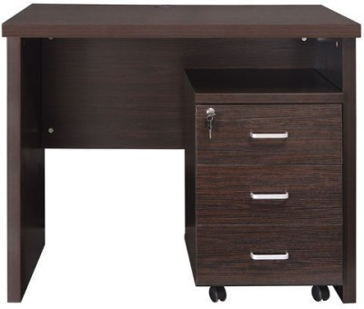 Nilkamal Orita Engineered Wood Office Table(Free Standing, Finish Color - Walnut)