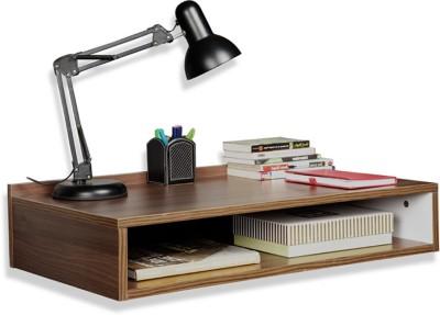 Debono Compact Wall Hung study table with open shelf Engineered Wood Study Table