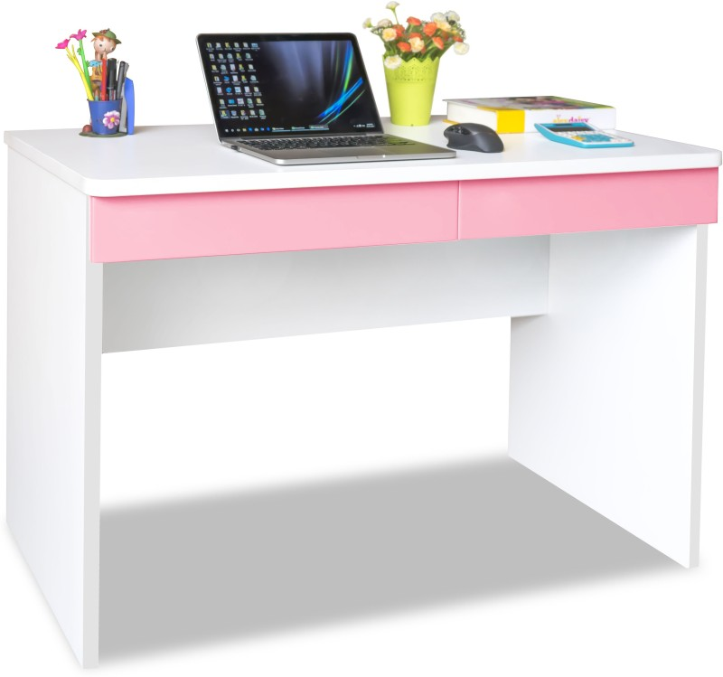Alex Daisy Universal Engineered Wood Study Table(Free Standing, Finish Color - Pink & White)