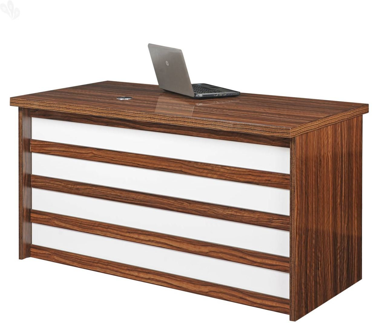View Royal Oak Larix Engineered Wood Office Table(Free Standing, Finish Color - Honey Brown) Furniture (Royal Oak)