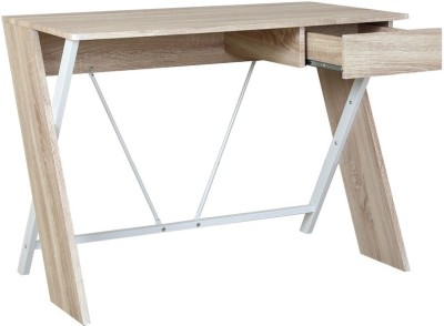 HomeTown Curtin Engineered Wood Study Table(Free Standing, Finish Color - Oak)