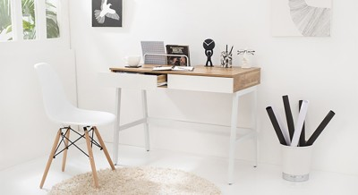 Urban Ladder Terry Engineered Wood Study Table(Free Standing, Finish Color - Golden Oak)