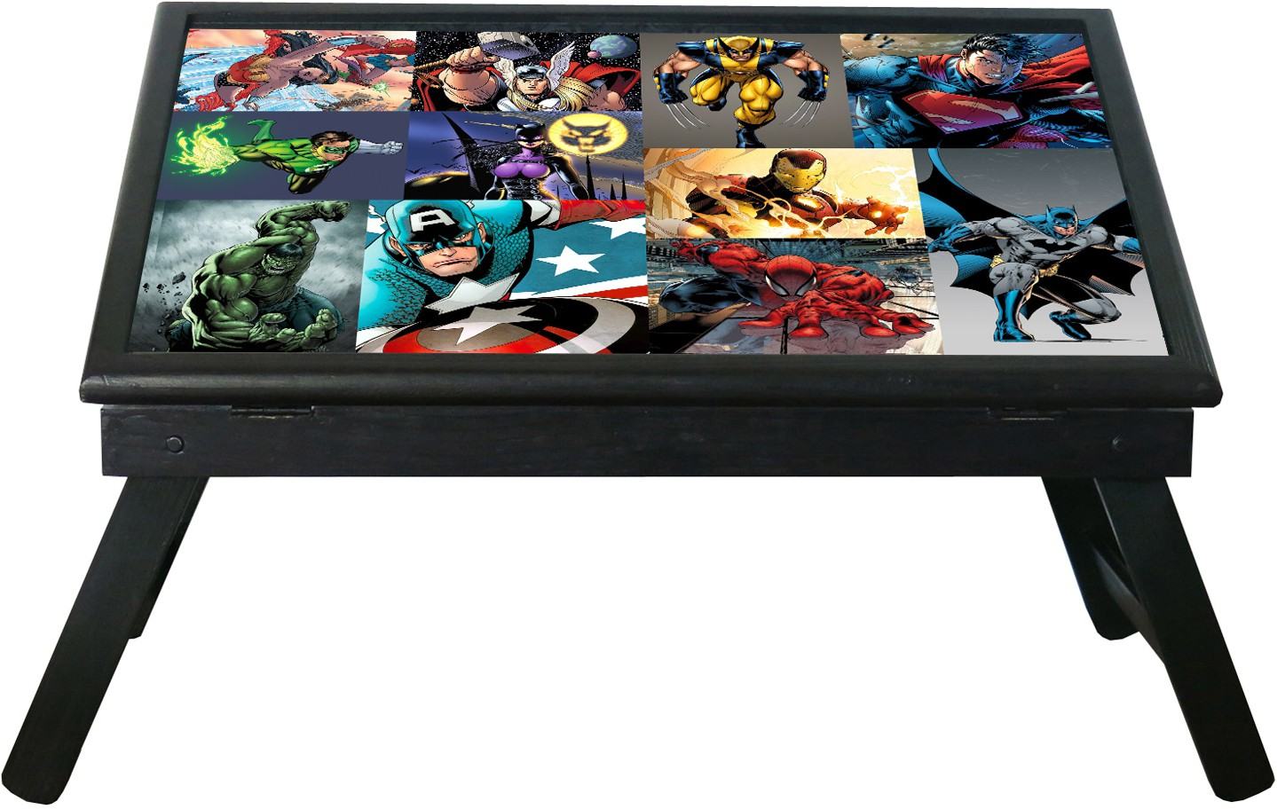 View 10 am Superheroes table Engineered Wood Study Table(Free Standing, Finish Color - Black) Furniture (10 am)