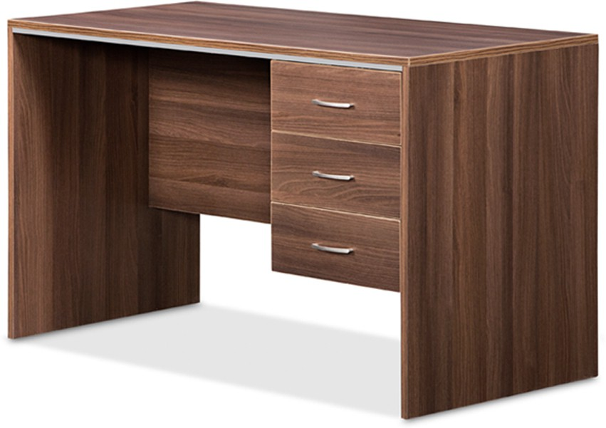 Debono Genius Table with three top hung drawer in Acacia Dark and Silver Grey by Debono Engineered Wood Office Table