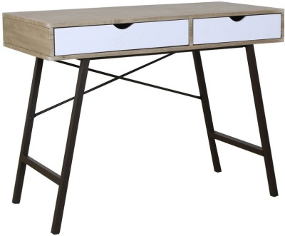 HomeTown Imperial Engineered Wood Study Table(Free Standing, Finish Color - Oak)