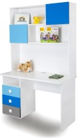 Alex Daisy Young America Engineered Wood Study Table(Free Standing, Finish Color - Blue-Grey-White)
