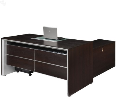 Royal Oak Jet Engineered Wood Office Table(Free Standing, Finish Color - Honey Brown)