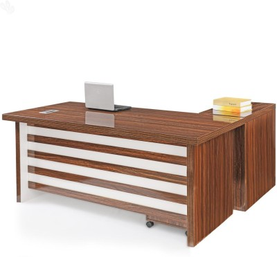 Royal Oak Larix Engineered Wood Office Table(Free Standing, Finish Color - Honey Brown)