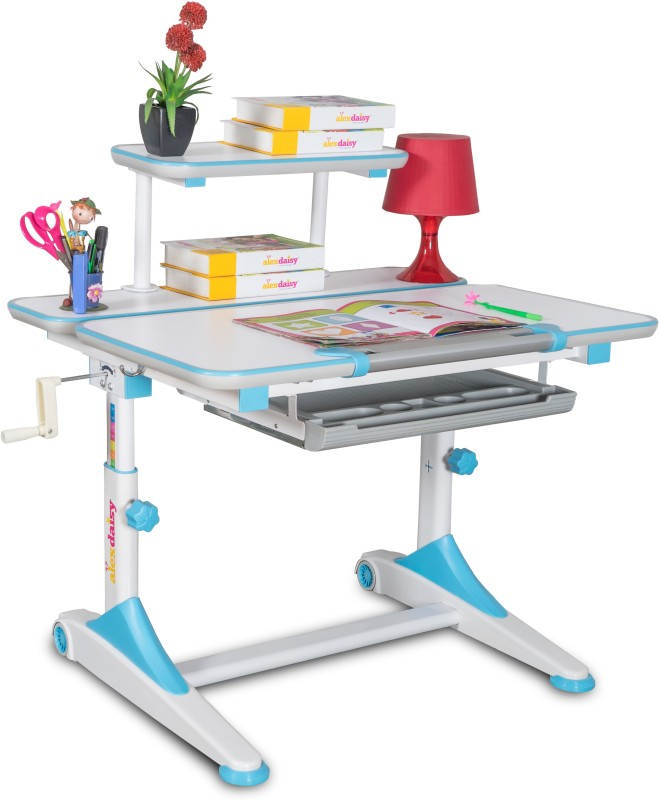 Alex Daisy Universal Metal Study Table(Free Standing, Finish Color - Blue & White)
