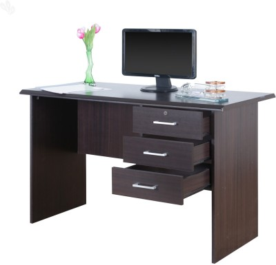 Royal Oak Bell Engineered Wood Office Table(Free Standing, Finish Color - Honey Brown)