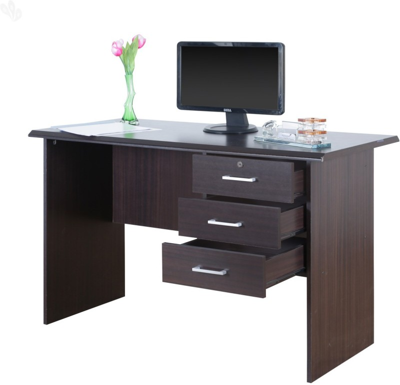 Royal Oak Bell Engineered Wood Office Table(Free Standing, Finish Color...