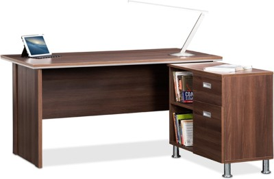 Debono Absolute Table with side unit in Acacia Dark by Debono Engineered Wood Office Table