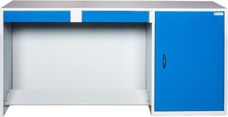 View Panajoy Panajoy Metal Study Table(Free Standing, Finish Color - Blue) Furniture (Panajoy)