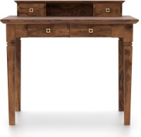 Urban Ladder Malabar Solid Wood Study Table(Free Standing, Finish Color - Teak)