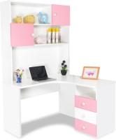 Alex Daisy Zest Engineered Wood Study Table(Free Standing, Finish Color - Pink & White)
