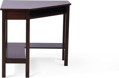 Urban Ladder Collins Corner Solid Wood Study Table(Free Standing, Finish Color - Dark Walnut)