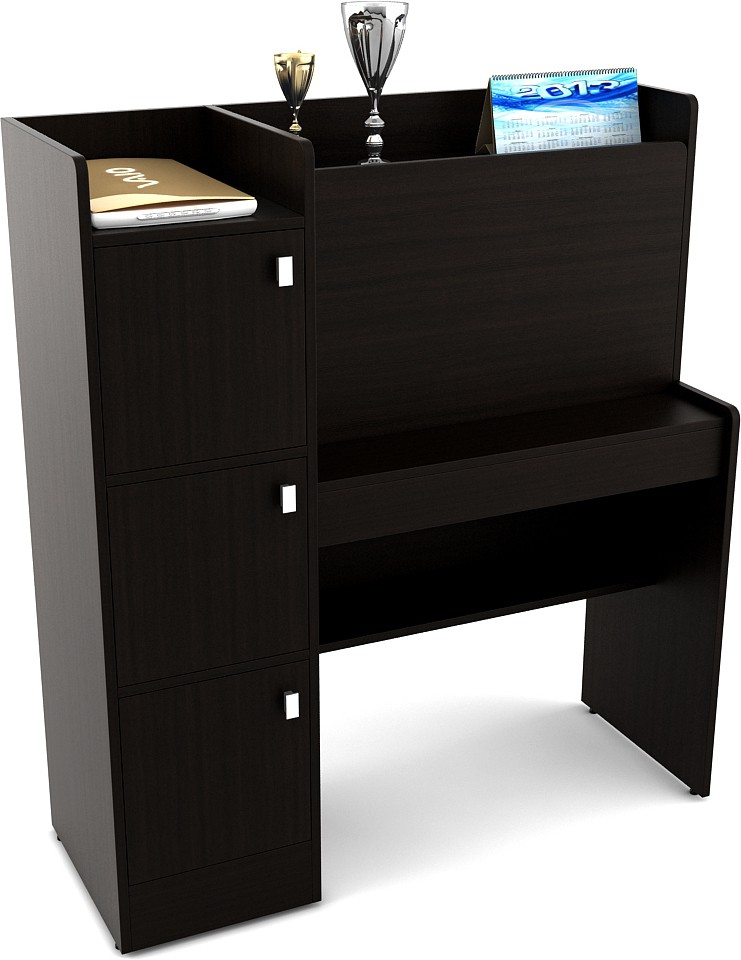 View HomeTown Ace Engineered Wood Study Table(Free Standing, Finish Color    Black)