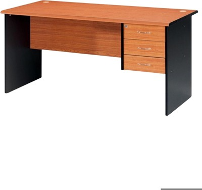 Nilkamal Solid Wood Office Table(Free Standing, Finish Color - Black)