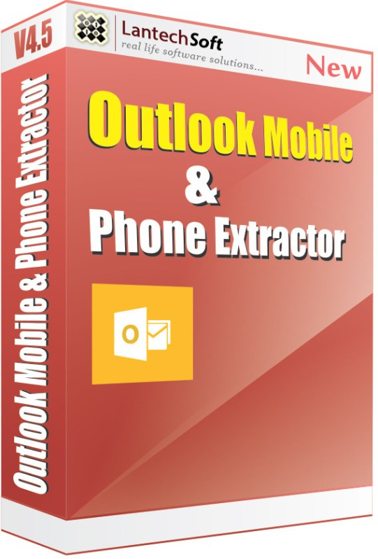 Lantech Soft Outlook Mobile And Phone Number Extractor(1 Year)