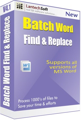Lantech Soft Batch Word Find & Replace
