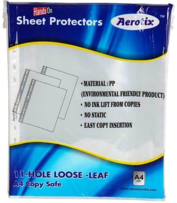 "HANDSON SHEET PROTECTORS AEROTIXâ""¢ 11-HOLE LOOSE LEAF A4 COPY SAFE(OT-SP200A4)(PAKING 50PC)DIAMOND BSC10836 A4 Ohp Sheets"