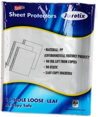 "HANDSON SHEET PROTECTORS AEROTIXâ""¢ 11-HOLE LOOSE LEAF A4 COPY SAFE(OT-SP100 A4)(PAKING 50PC)SILVER(PACK OF 2)BSC10838 A4 Ohp Sheets"