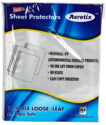 "HANDSON SHEET PROTECTORS AEROTIXâ""¢ 11-HOLE LOOSE LEAF A4 COPY SAFE(OT-SP150 A4)(PAKING 50PC)GOLD(PACK OF 2)BSC10837 A4 Ohp Sheets"
