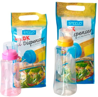 steelo 500 ml x 1, 1000 ml x 1 500 ml, 1000 ml Cooking Oil Dispenser Set