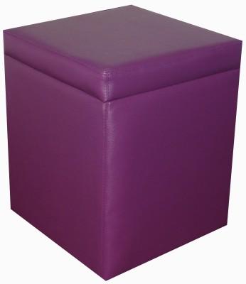 ORKA Leatherette Standard Ottoman(Finish Color - Purple)