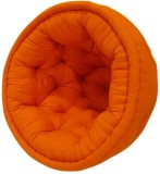 Reme Fabric Pouf (Finish Color - Orange)