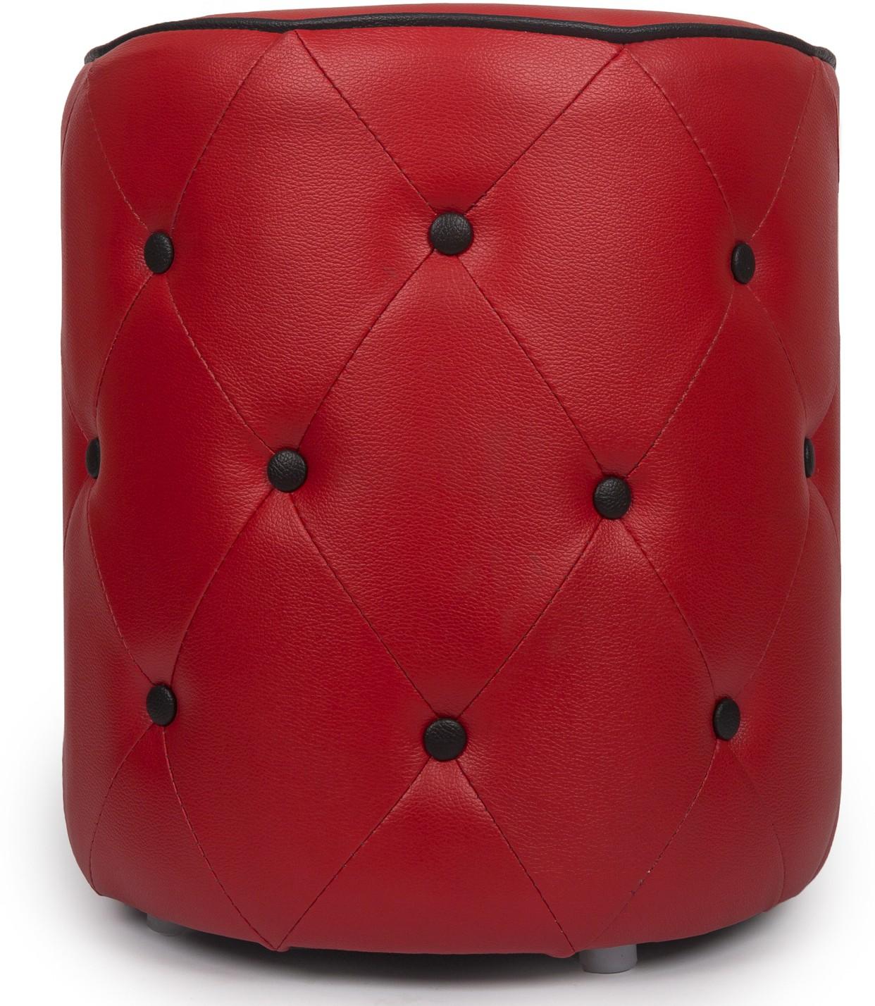View Aadeshwar Enterprise Solid Wood Pouf(Finish Color - Red) Furniture (Aadeshwar Enterprise)