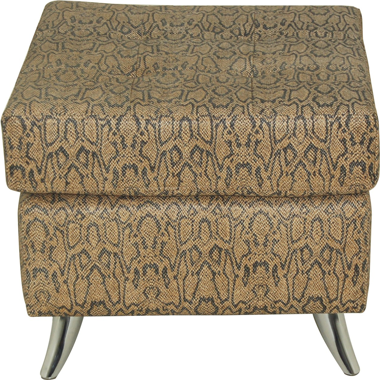 View Furnitech Engineered Wood Standard Ottoman(Finish Color - Brown) Furniture (Furnitech)