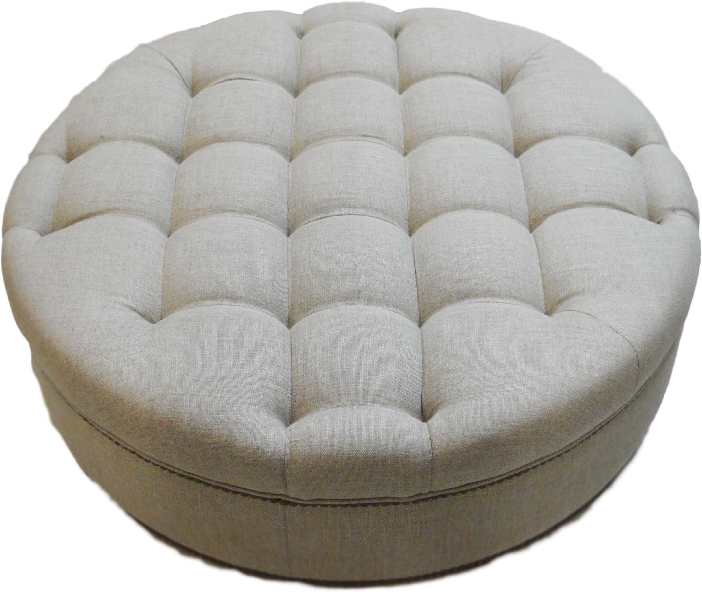 View ArtisTree Fabric Cocktail Ottoman(Finish Color - Beige) Furniture (ArtisTree)