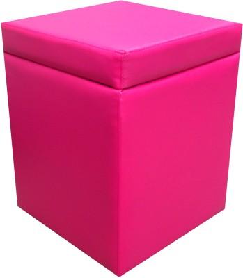 ORKA Leatherette Standard Ottoman(Finish Color - Pink)