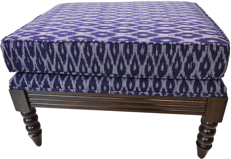 View ArtisTree Fabric Cocktail Ottoman(Finish Color - walnut) Furniture (ArtisTree)
