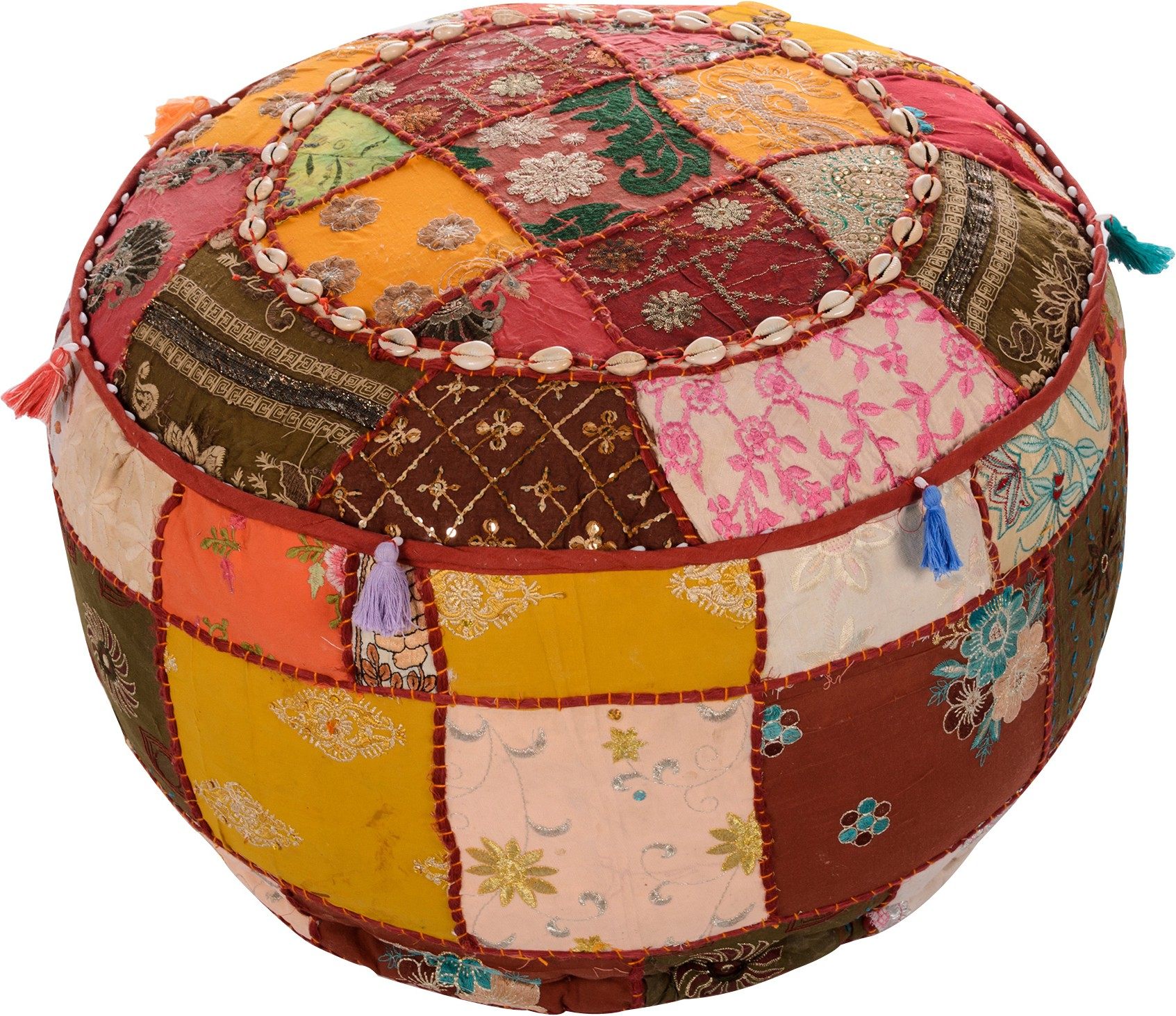 View Artasia Fabric Pouf(Finish Color - Multicolor) Furniture (Artasia)