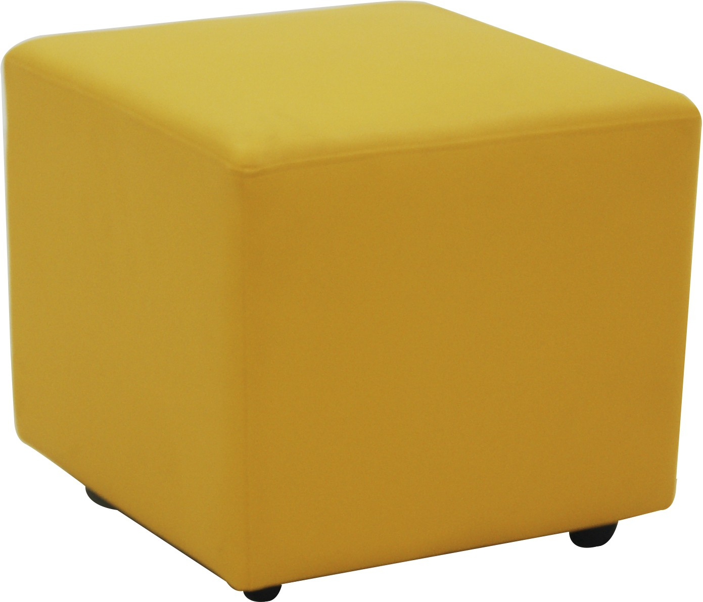 View Furnitech Engineered Wood Standard Ottoman(Finish Color - Yellow) Furniture (Furnitech)