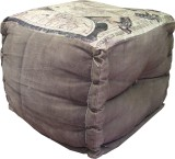 Marwar Solid Wood Pouf (Finish Color - M...